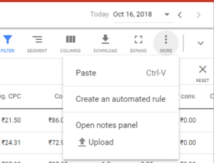 New automated rule option google ads