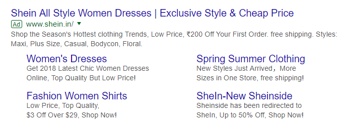 Example of PPC Ads on Google SERP