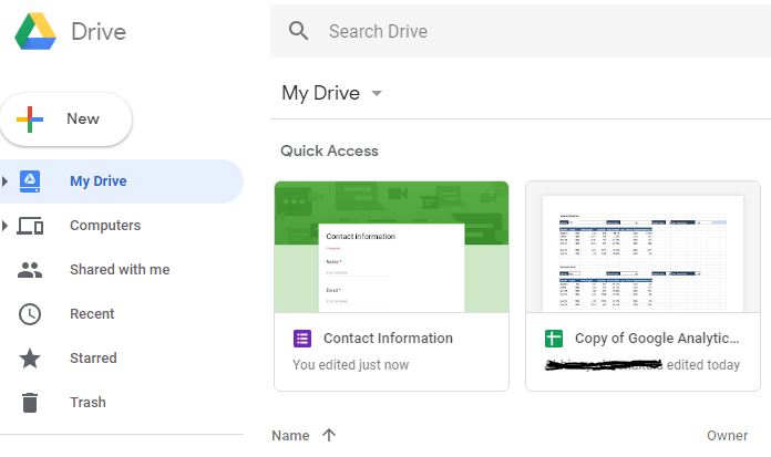 use google drive to store your files